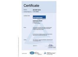 INTERDOMO ist nach neuer DIN ISO 9001:2015 zertifiziert