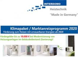 Klimapaket / Marktanreizprogramm